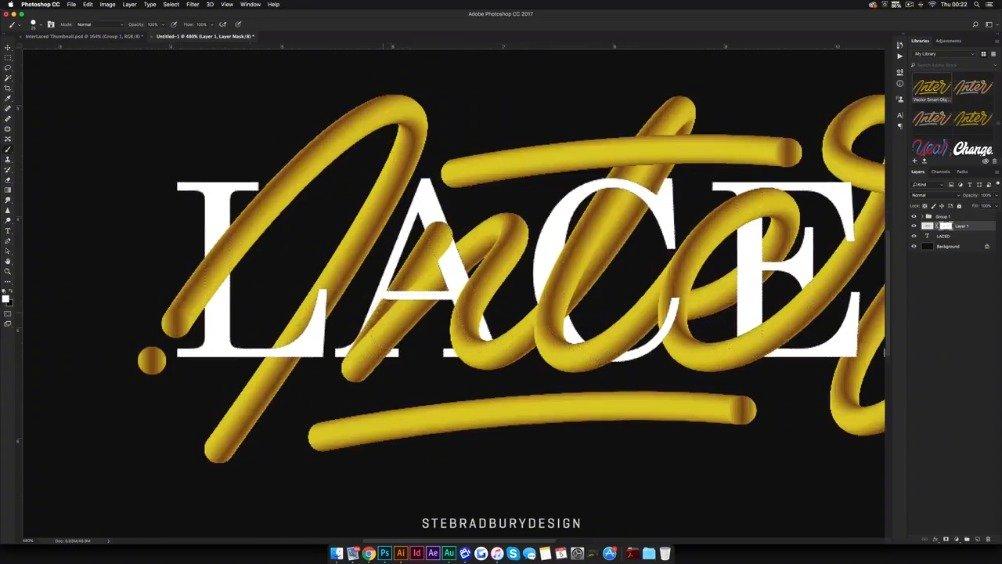 一个酷炫的交错字体设计制作教程