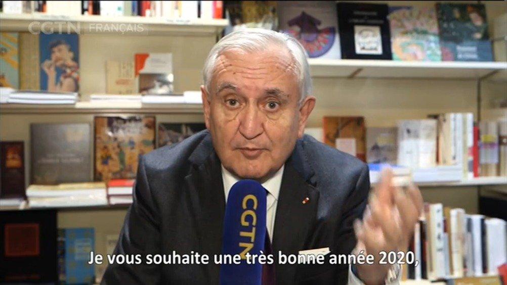 法国前总理让-皮埃尔·拉法兰给中国人民送来新春祝福啦