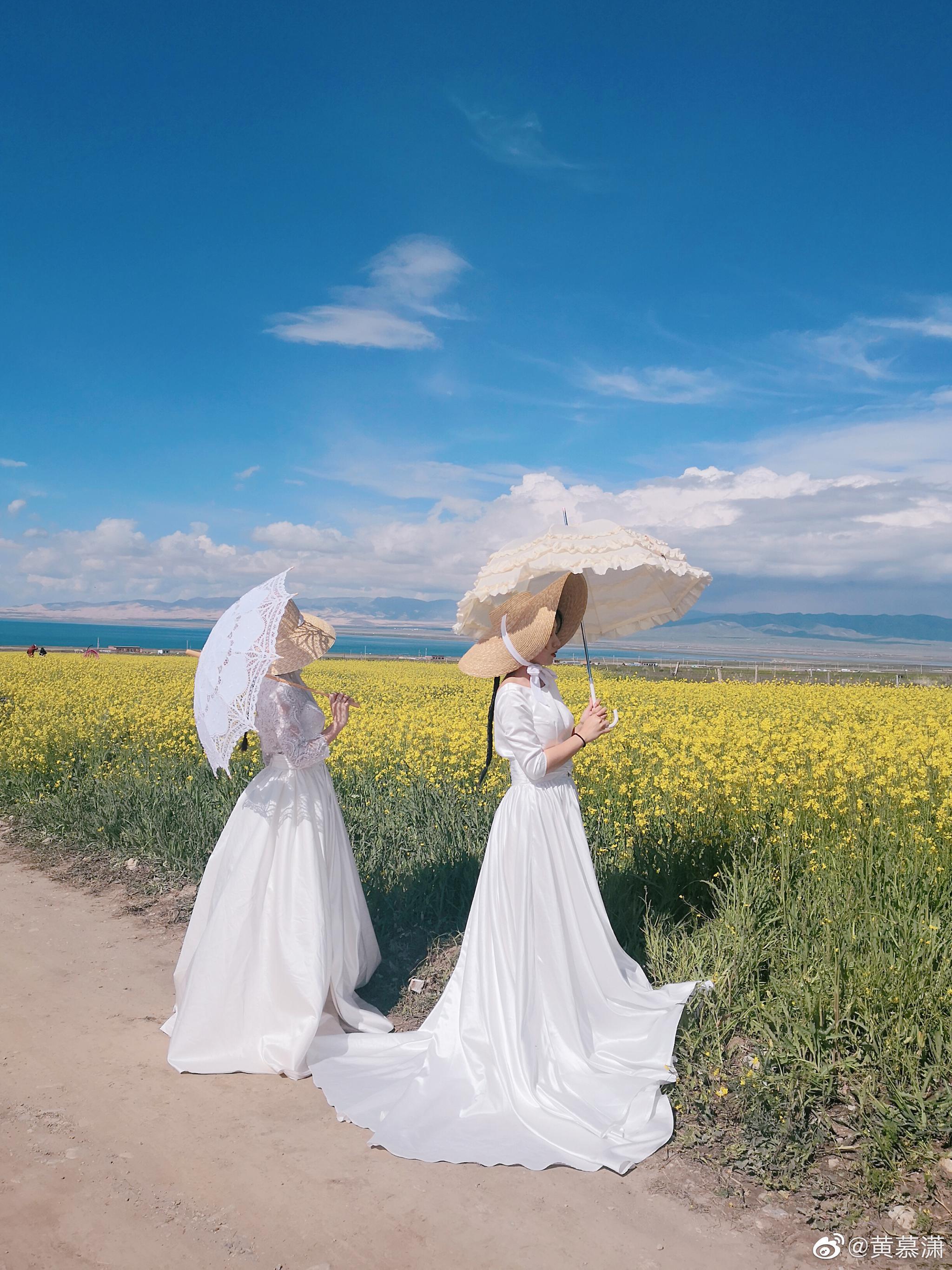 青海湖超美呀我的仙女们@十圓松子 @_秦朝歌_ 太美了