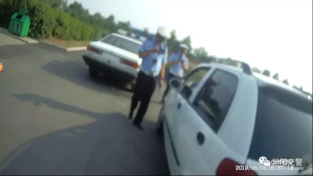 近日吕梁汾阳交警就查获一辆无证驾驶的套牌车