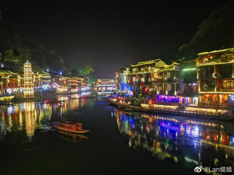 美丽的凤凰古城,夜色太撩人今晚手机拍拍分享(华为p10夜景模式