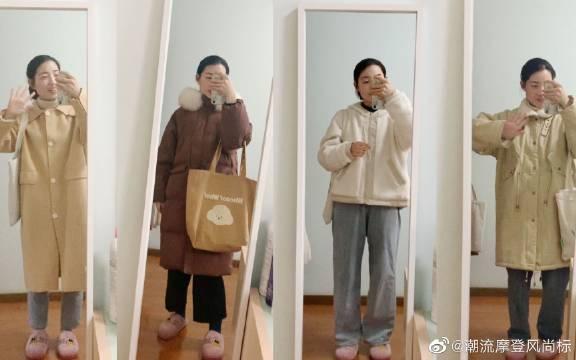 160/45冬季舒适穿搭,棉服羽绒服呢子,平价高效百搭~