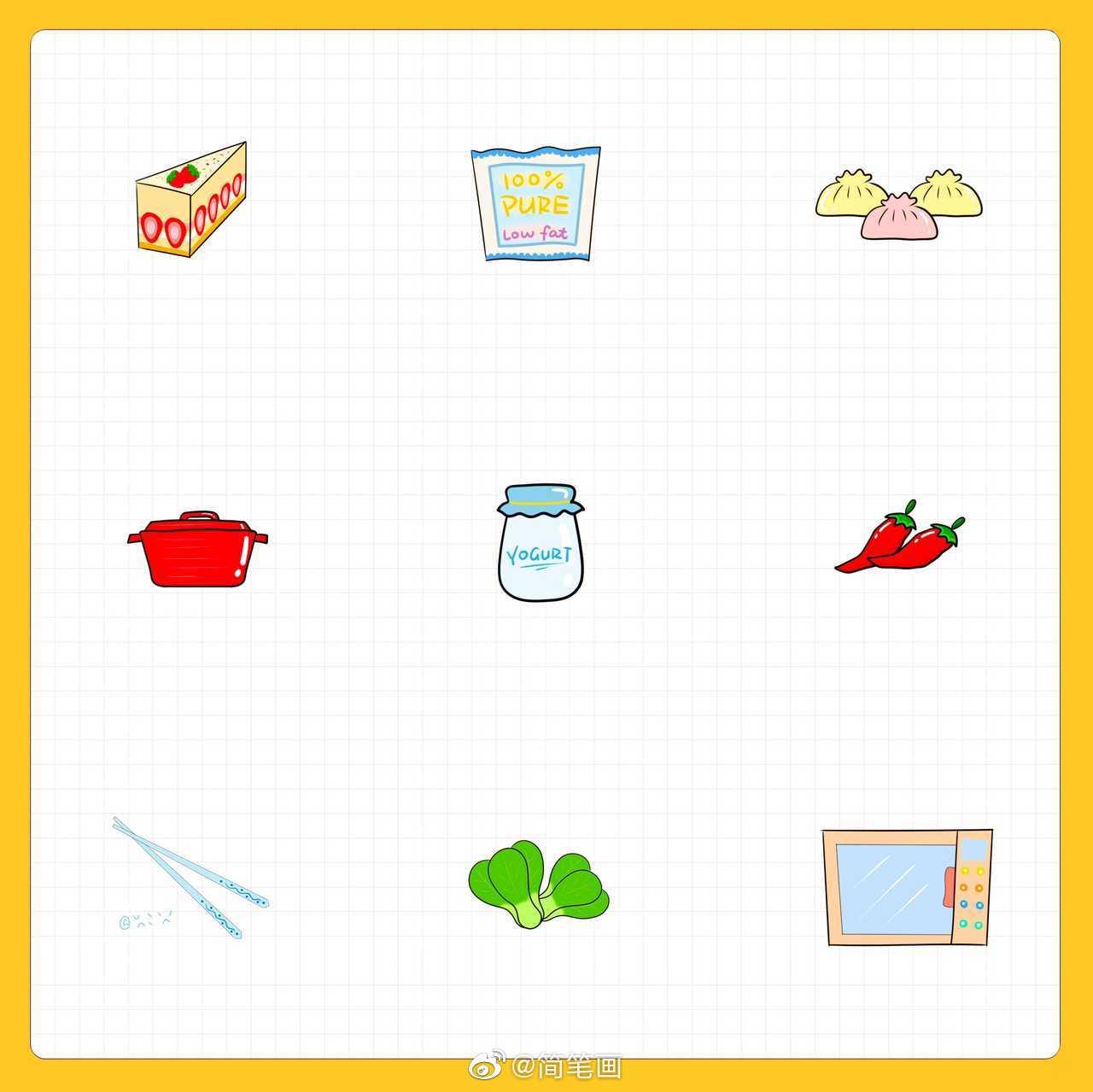 一组厨房主题简笔画(投稿:@妃法律事务所)