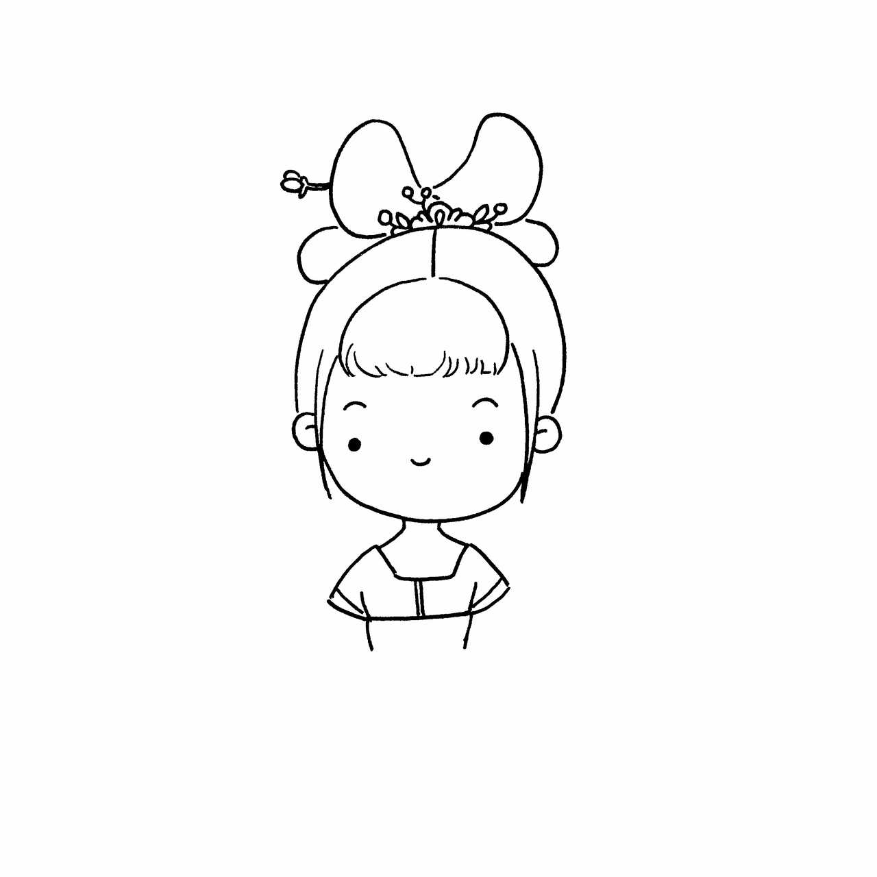 小女孩簡筆畫教程 | cr.@愛畫畫的橙子