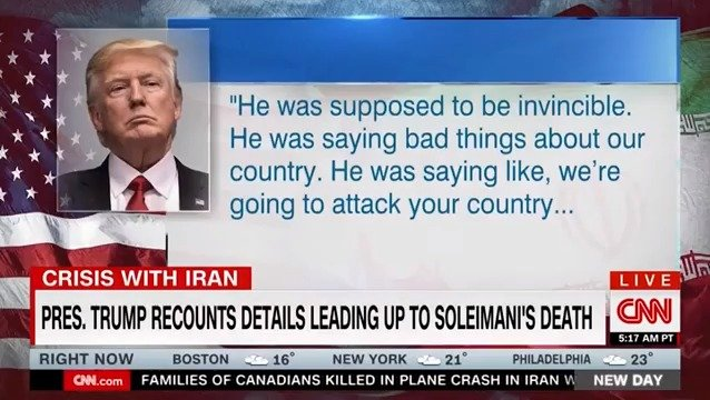 """""""长官,他们已不在人世"""":特朗普晚宴讲述刺杀苏莱曼尼细节"""