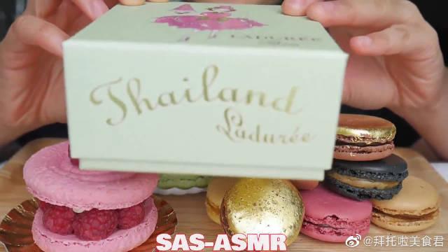 巴黎著名高级甜点拉杜丽!黄金马卡龙!!看起来好高级!