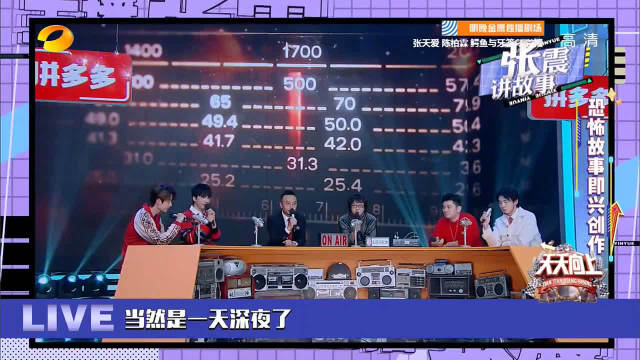 《天天向上》@UNIQ-王一博 变身电台主持和天天兄弟以及@张震讲故事