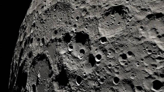 这段视频是利用从美国月球勘测轨道飞行器收集的数据