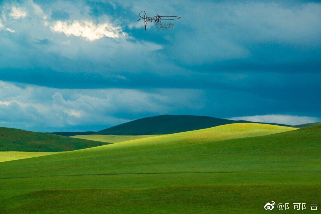 内蒙古很大草原很多有时候只是路过依然美得让人感动 @带着微博去