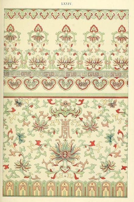 百年前英国设计师 Owen Jones 绘制的中国纹饰