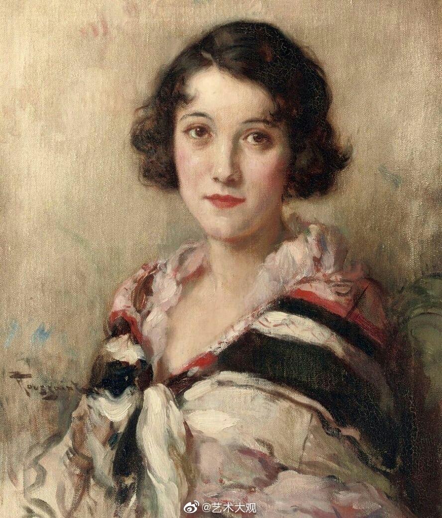 比利时后印象派画家弗尔南森特女性肖像油画作品专辑弗尔南图森特(F
