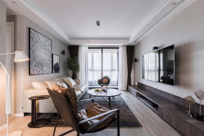台式简约风家居,低彩度色调使得空间格外沉稳大气有质感