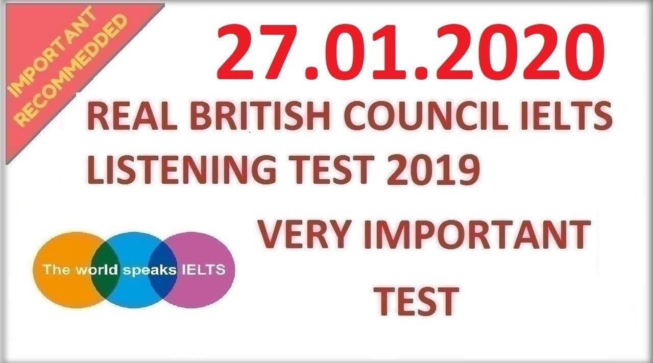 英国文化协会:雅思听力真题模拟20200127(听力原文+答案)