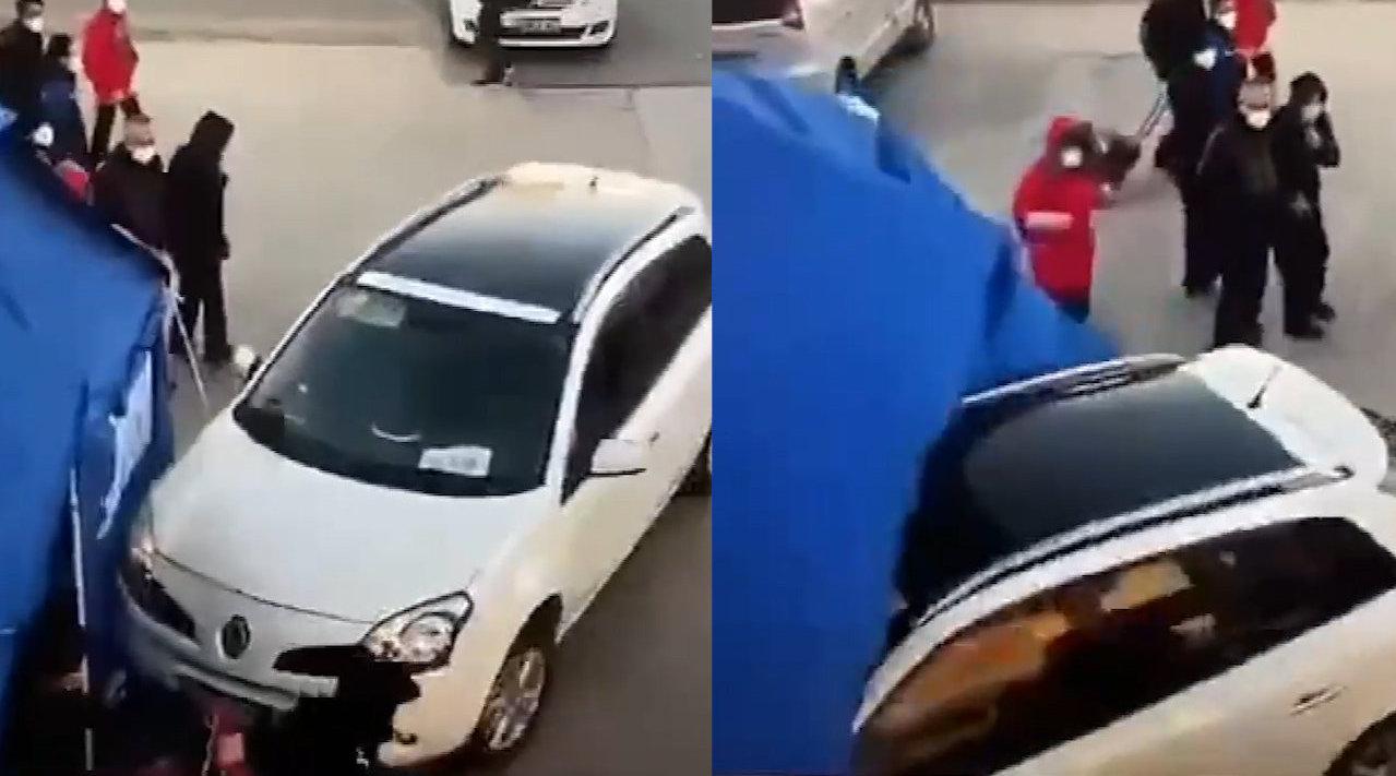 刑拘!北京一男子不满小区防疫登记,猛踩油门冲向人群致2人受伤