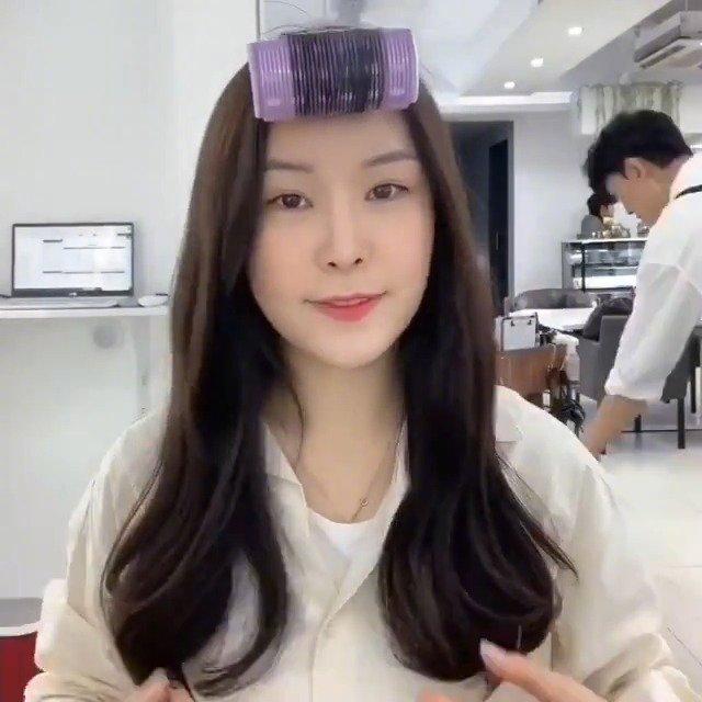 教你几分钟学会韩系微卷卷发手法教程,长发的小仙女不要错过啦~~ CR