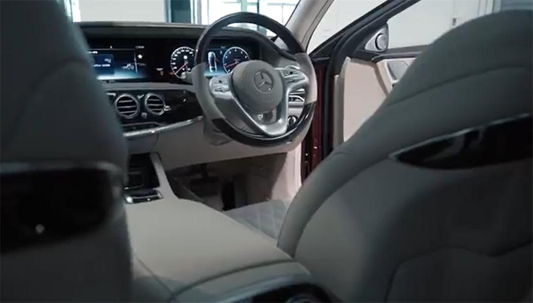 到店实拍,2019款泰坦红奔驰迈巴赫S650,售价1000万