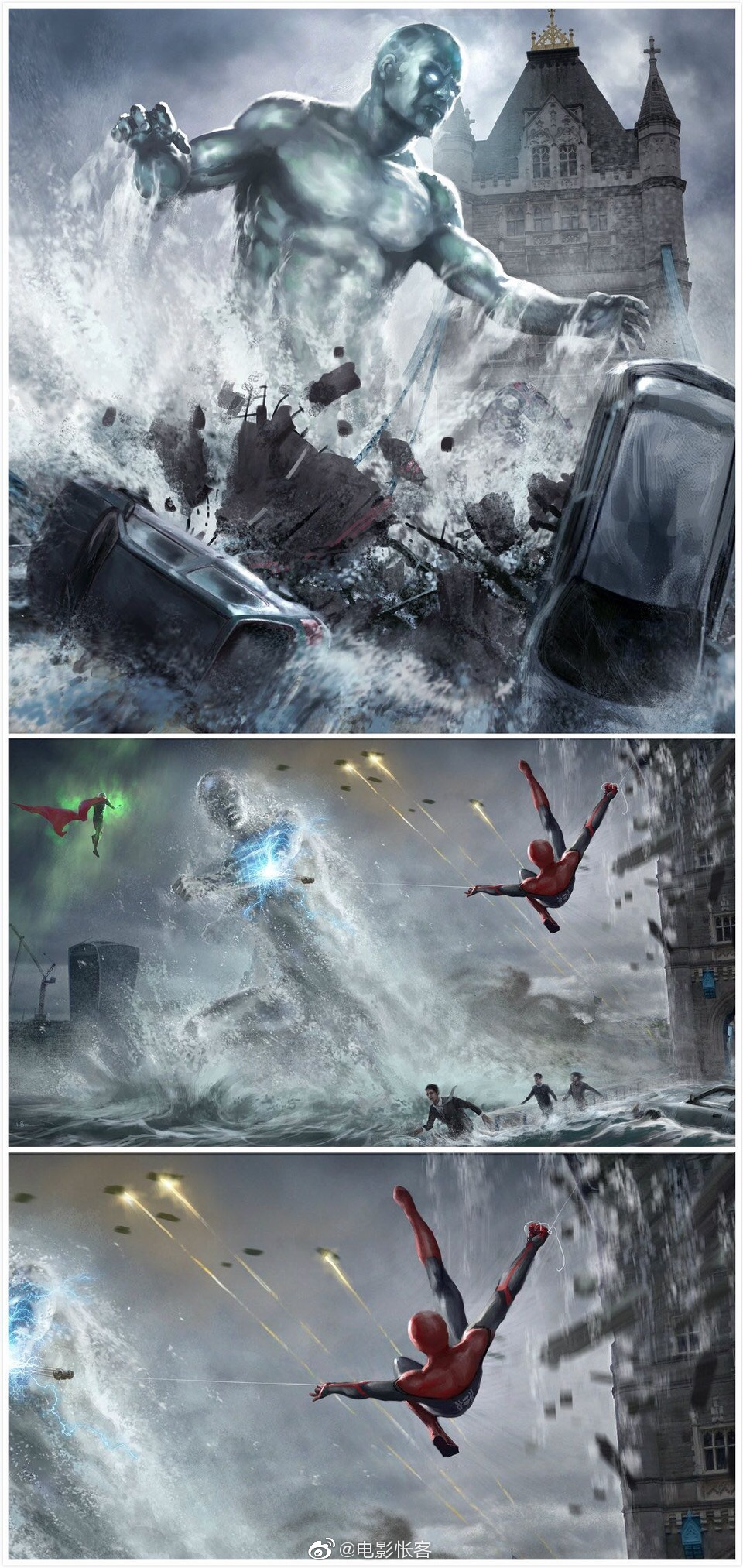 分享一组《蜘蛛侠:英雄远征》的艺术概念图
