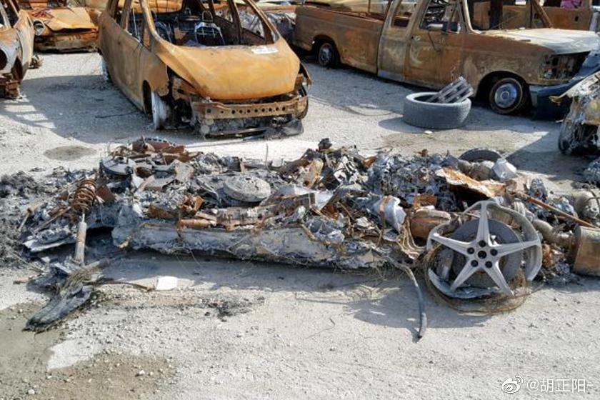 加州有人在卖这一辆,不对,是这一堆烧成灰的法拉利458 Spider