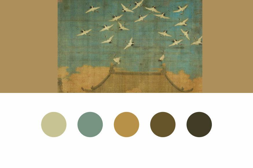 中国书画传统配色,历史的时光交错沉淀的色彩