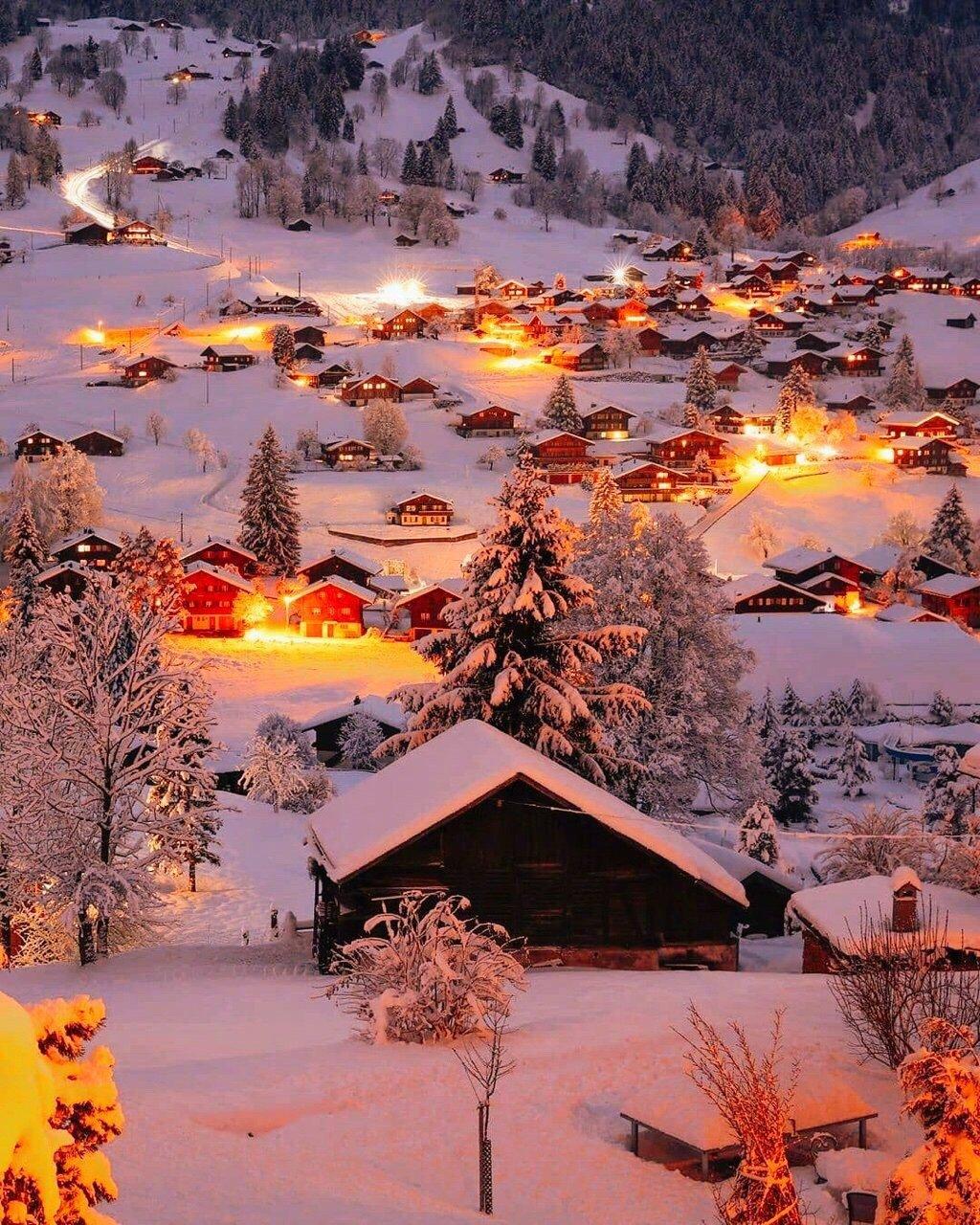 冬夜的瑞士,纯净又温暖,童话世界般美好。