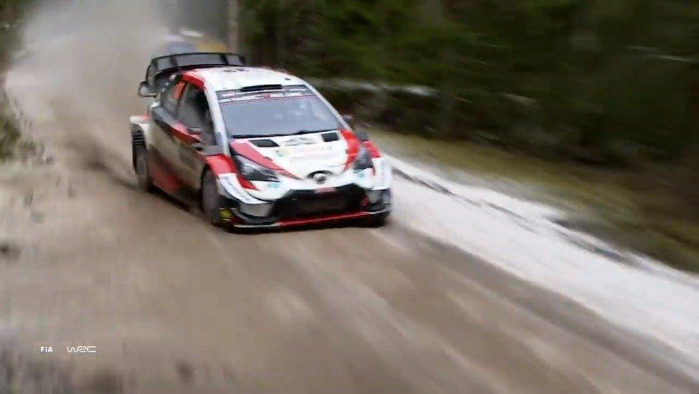 视频:WRC瑞典站5-7赛段丰田Evans领跑:周六上午3个赛段