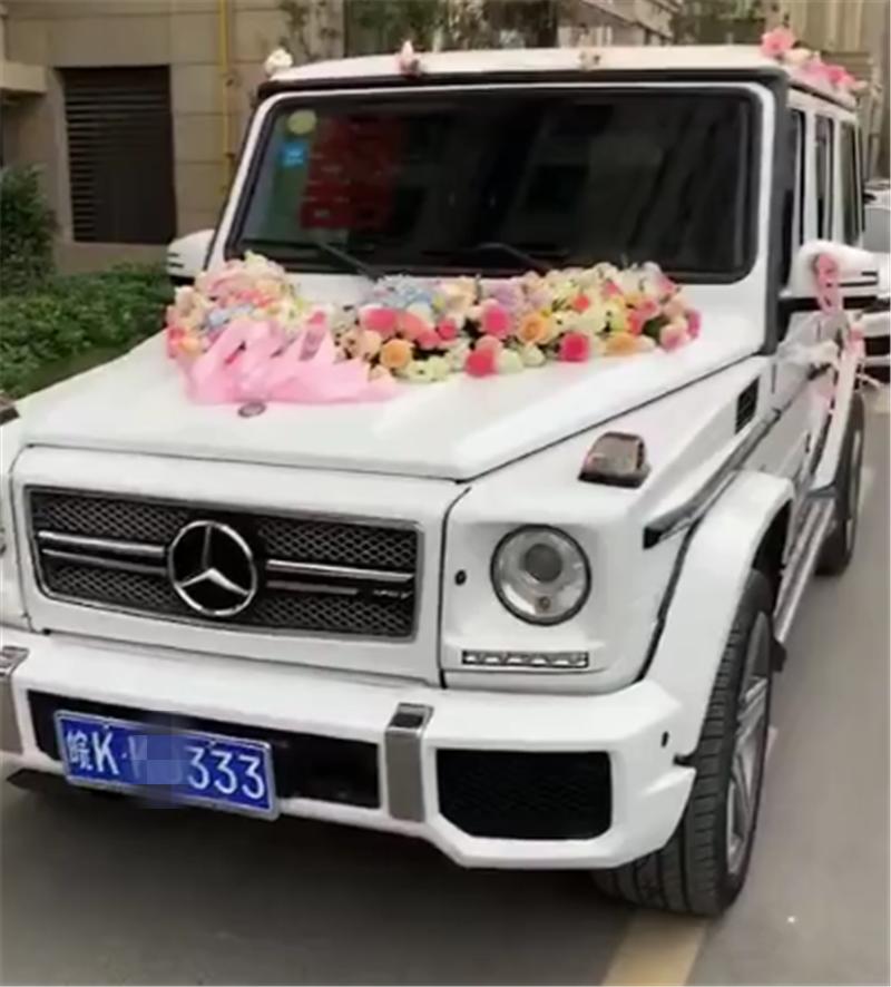 奔驰G63做婚车,配三连号牌,得加价75万,租金一天3600