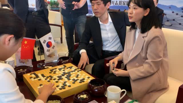 李昌镐-金彩瑛组合在大优形势下憾负范廷钰-王晨星组合