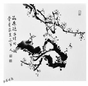 退休后,研习书画 逐渐形成自己独特的画梅风格   郭志龙参加工作后