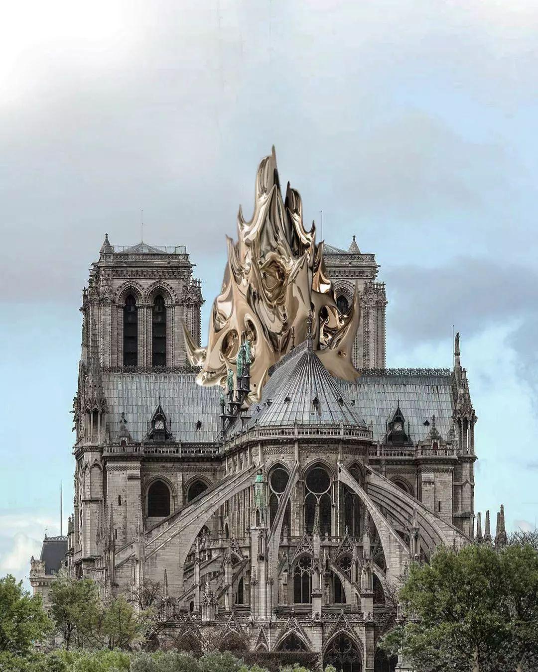 巴黎圣母院重建,世界知名设计师纷纷献计,网友看完后:捐的款,能要回来吗?