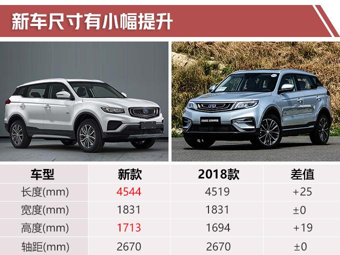 吉利博越降2万清库 新款年内上市尺寸更大换3缸1.5T引擎