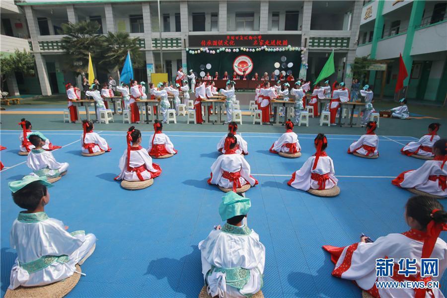 河南开封:围棋文化进校园