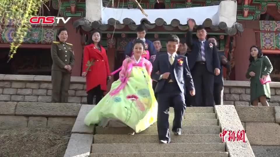 实拍朝鲜婚礼:新郎大同江畔许诺——我永远爱你