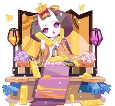 阴阳师匣中少女喜提新皮肤素纸雏心:穿金戴银,平安京新任富婆?