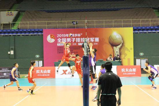全国男排冠军赛上海1-3负河南 北京3-2险胜浙江