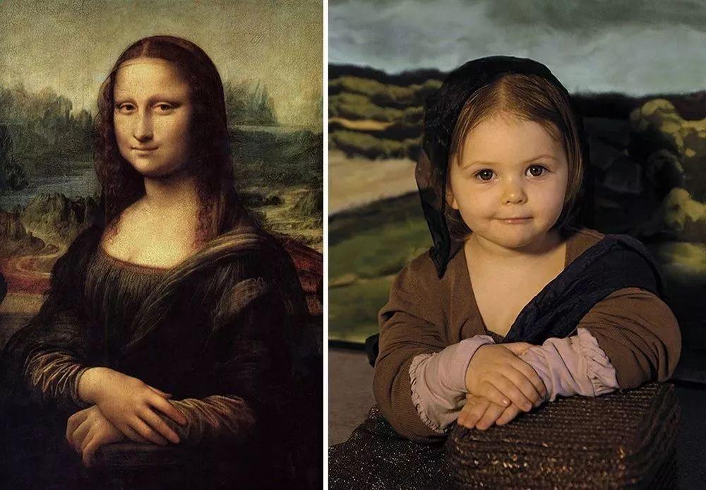 不得了,摄影师妈妈把全家都拍成了世界名画!