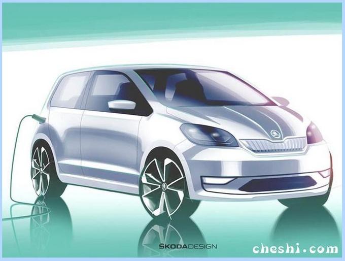 斯柯达首款纯电动车,造型比Smart还萌,网友:这续航不值这个钱