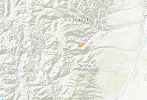 阿根廷西部发生5.6级地震。(图片来源:美国地质勘探局网站截图)