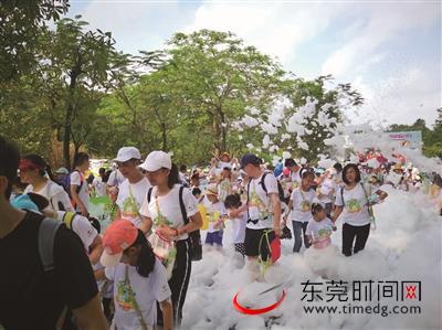 广东:1000多户家庭参加社区亲子趣味徒步