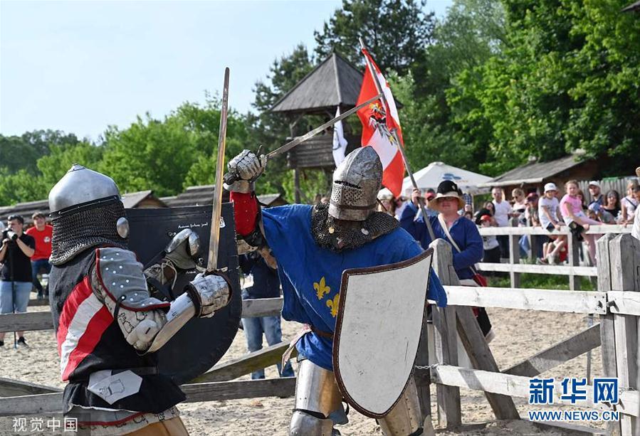 乌克兰举办中世纪格斗世界锦标赛