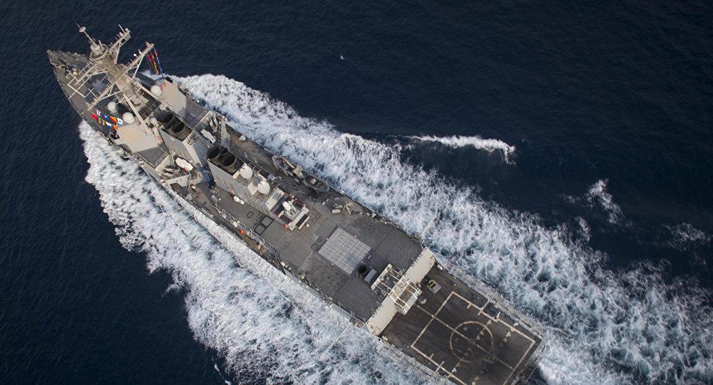 美国海军驱逐舰再闯我南海黄岩岛?,外交部强硬回应