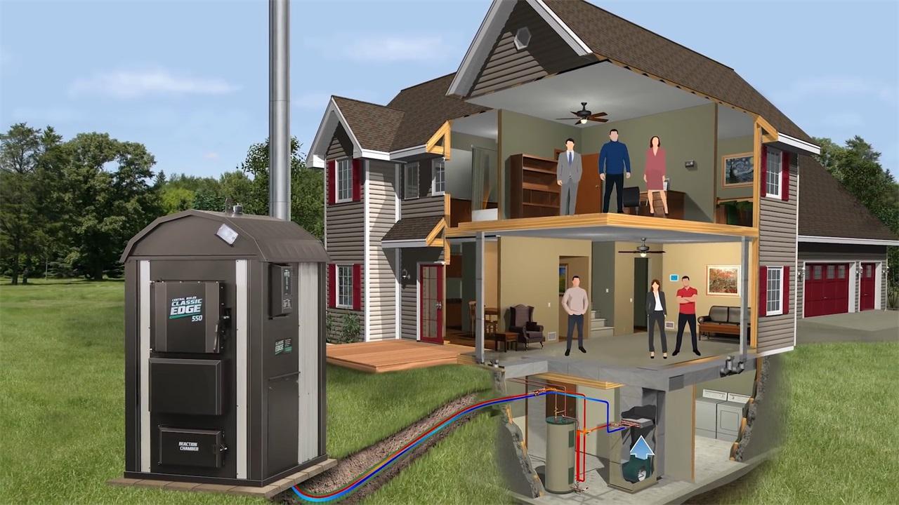 国外别墅距离远,冬天取暖还需烧锅炉,果然食品纸箱设计软件图片