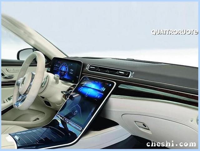奔驰新一代S级,实车曝光 中控大屏设计,酷似蔚来ES8
