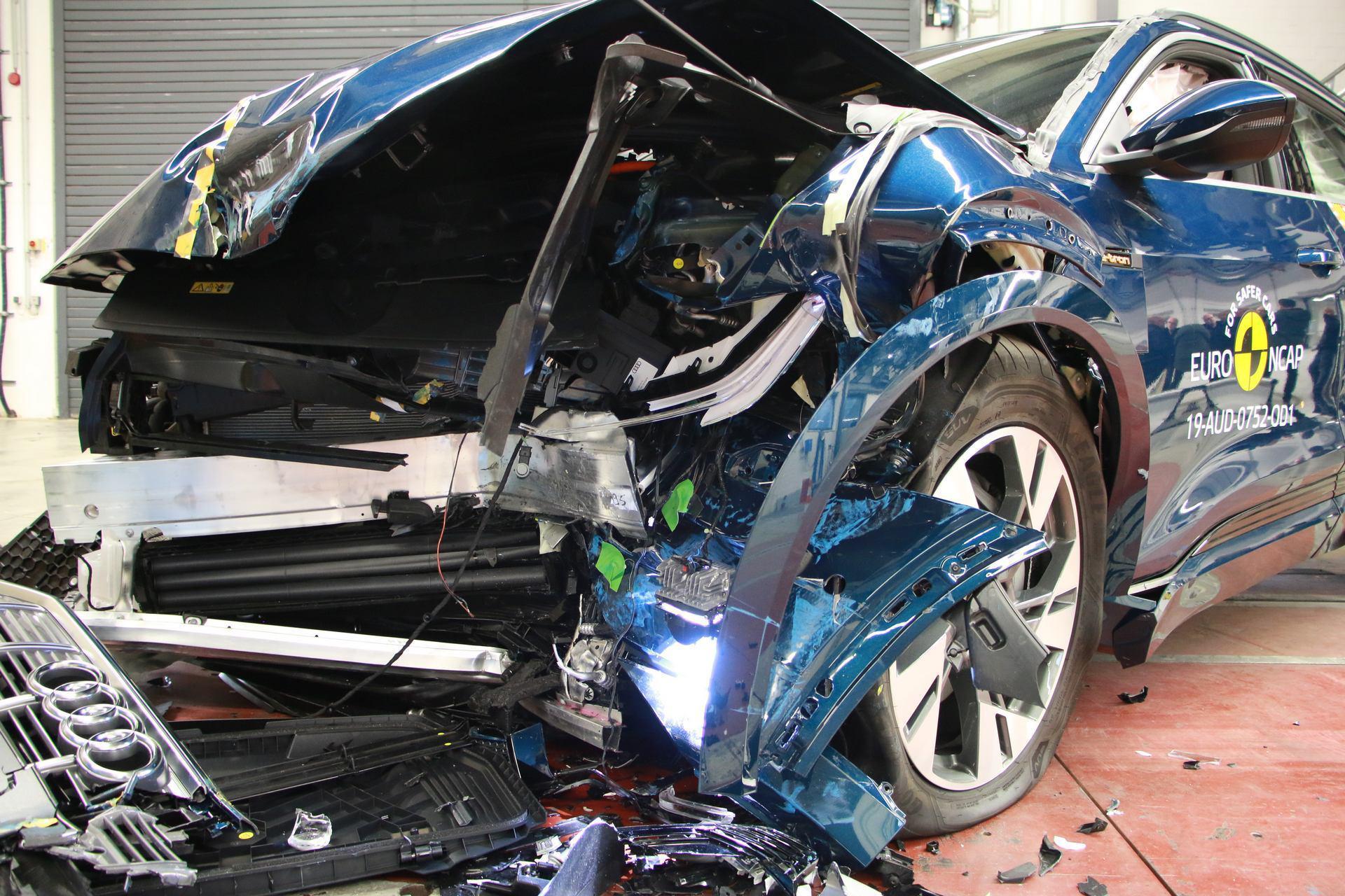 奥迪e-tron 获Euro NCAP测试五星 电动车获此殊荣难能可贵