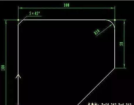 FANUC数控机床倒角编程功能实例分享