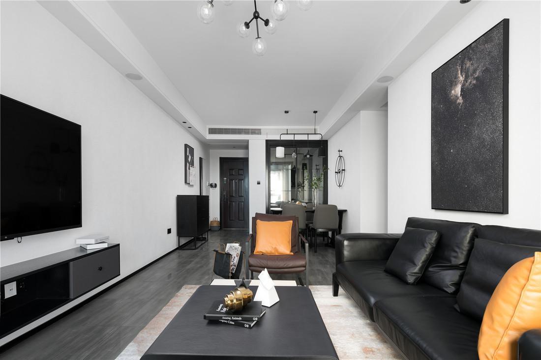 110㎡现代主义风格装修,简约黑白灰彰显生活品质!