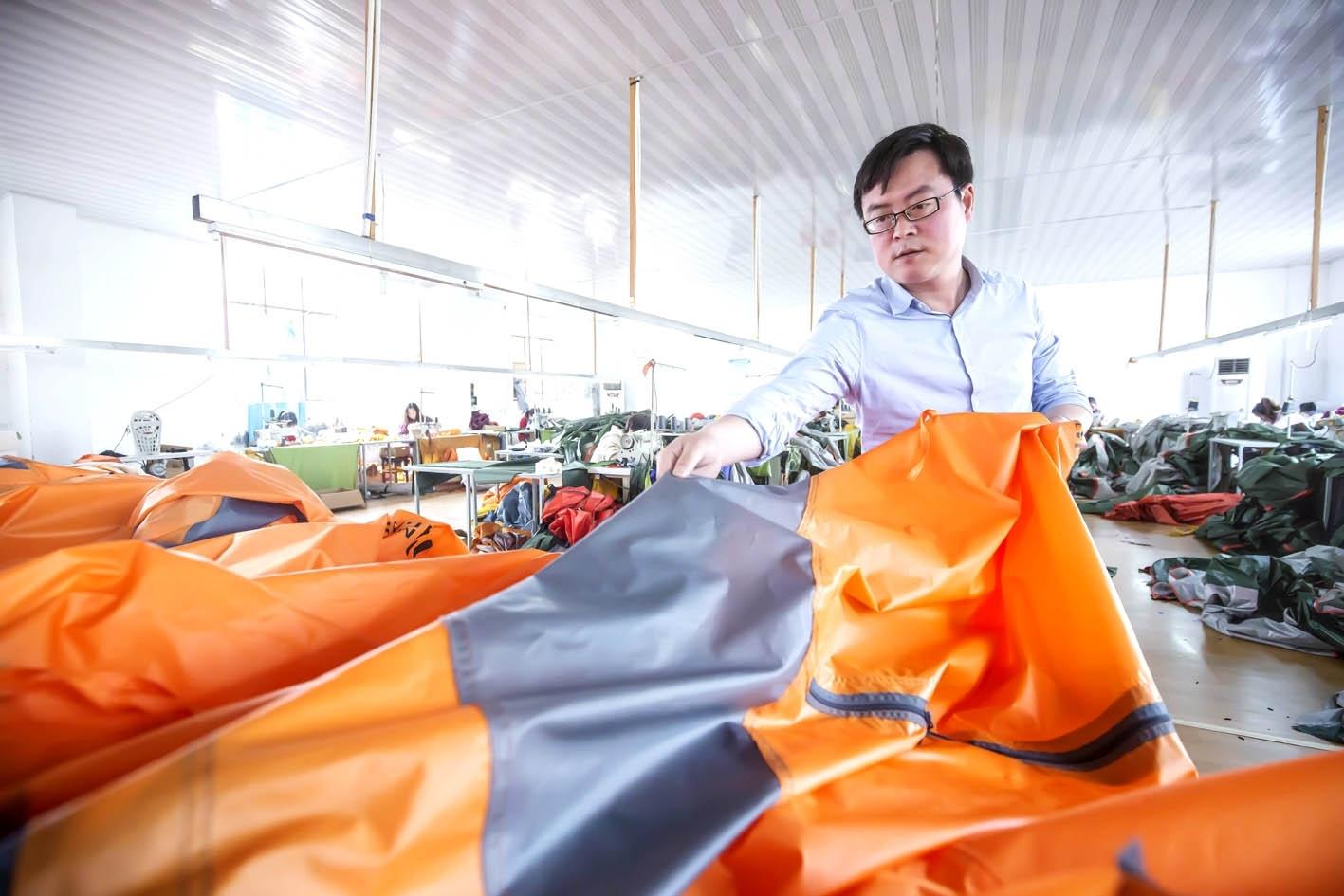这家扬企为美国童子军生产单兵帐篷 产品打开欧美市场