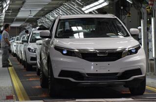 观致5 SUV第8万台车下线 细分市场站稳脚跟