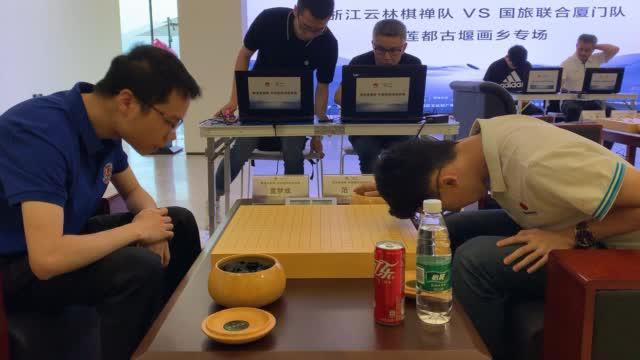 6月1日,2019华为手机杯中国围棋甲级联赛第六轮比赛打响