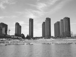 济南北湖片区,云锦湖公园湖光初显