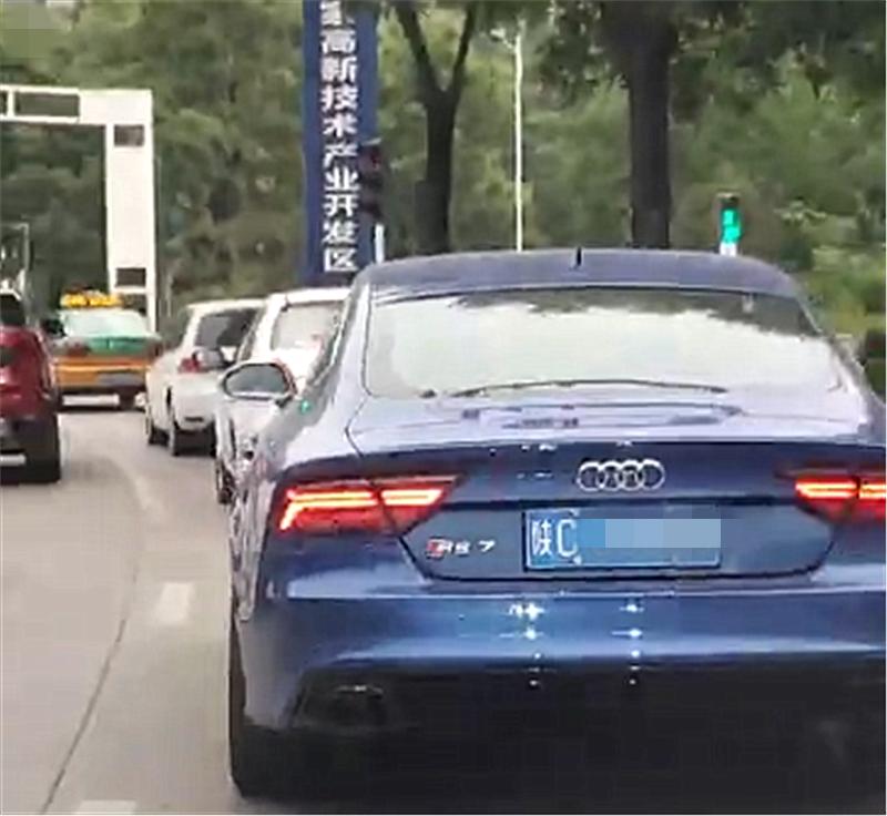 """百万奥迪RS7现陕西,号称是""""西装暴徒"""",仔细一看才知这是假的"""